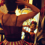 MILAN, ITALY - MAY 20, 2004: From the backstage of Saltimbanco - Cirque du Soleil - The singer of the show is getting ready to go on stage